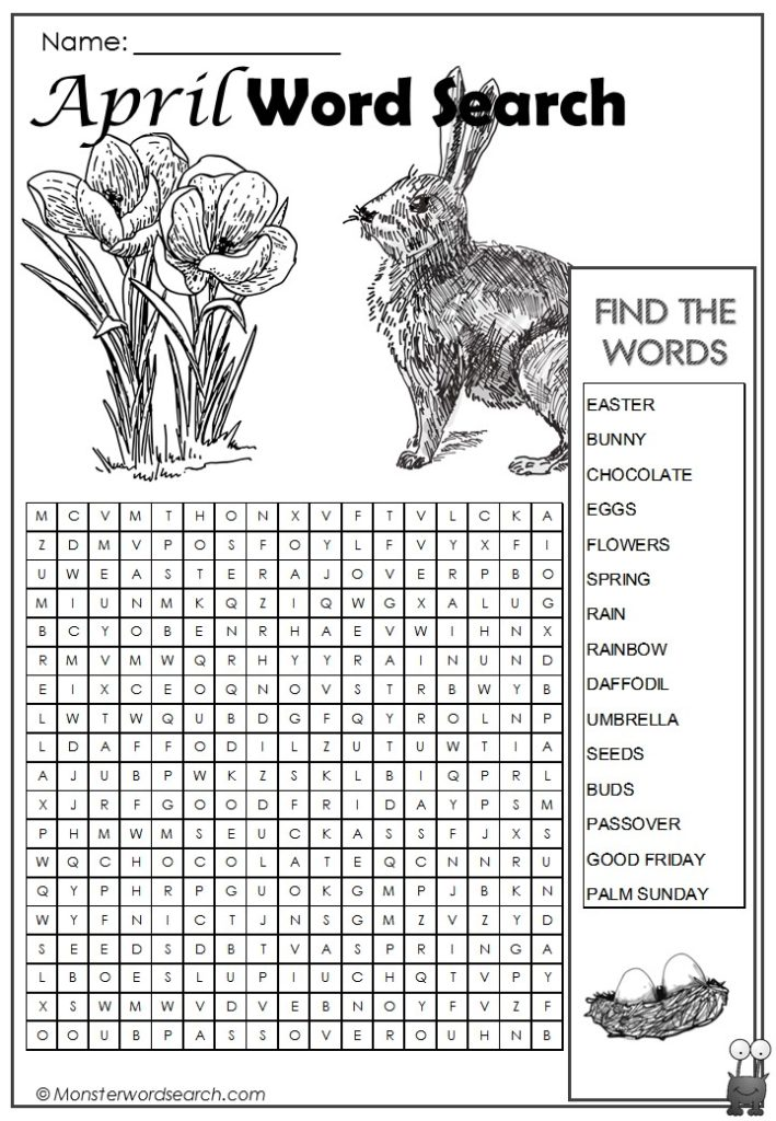 April Word Search