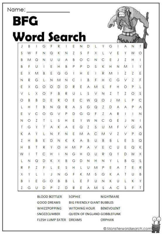 BFG Word Search