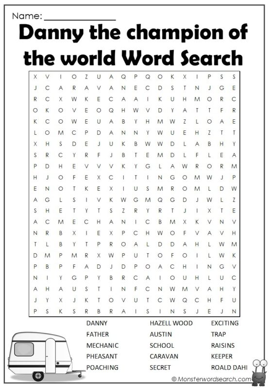 Danny the Champion of the World Word Search