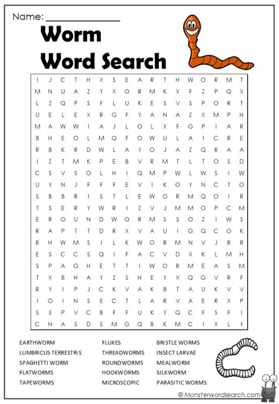 Worm Word Search