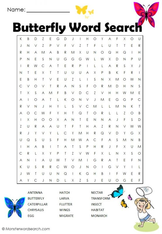 Butterfly Word Search