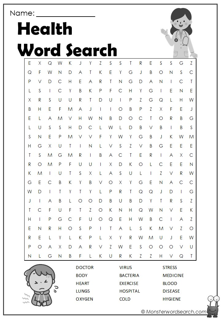 Marvelous Health Word Search Download Free Architecture Designs Jebrpmadebymaigaardcom