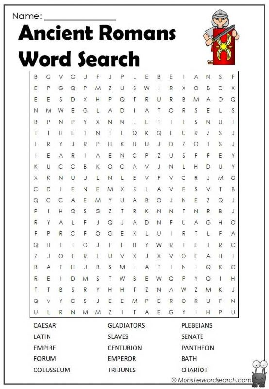 Ancient Romans Word Search