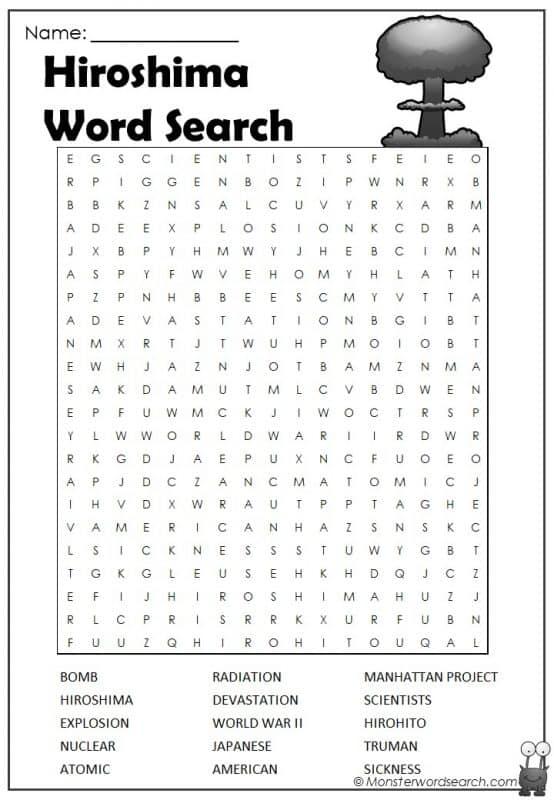 Hiroshima Word Search