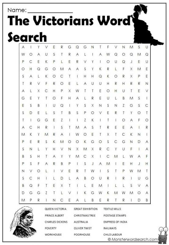 The Victorians Word Search