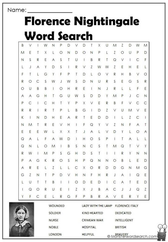 Florence Nightingale Word Search