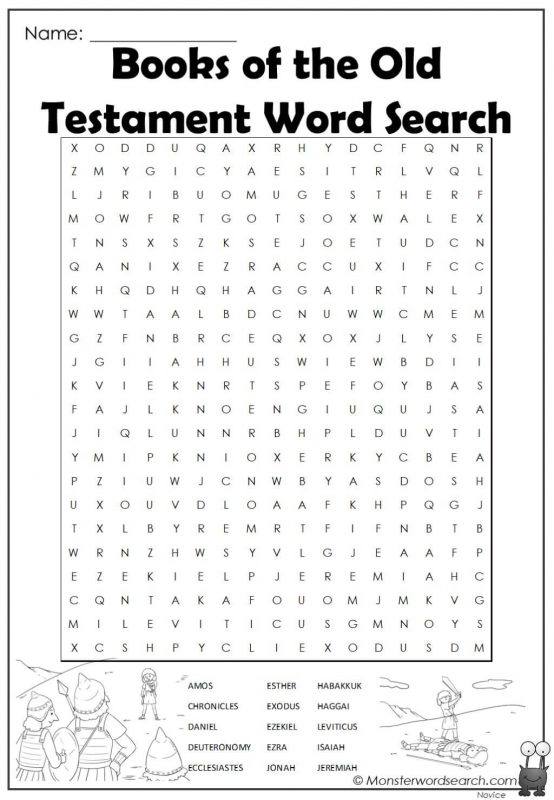 Books of the Old Testament Word Search