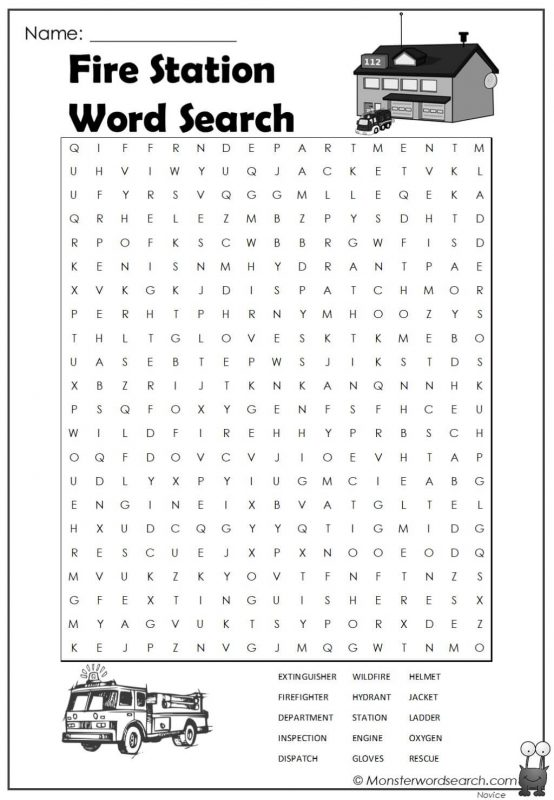 Fire Station Word Search