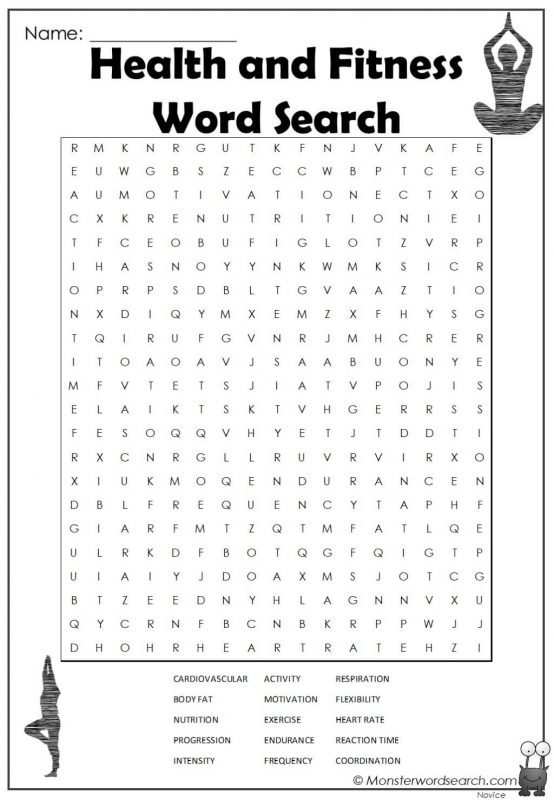 Health and Fitness Word Search