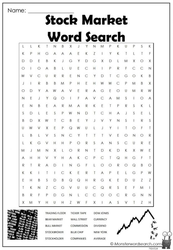 Stock Market Word Search