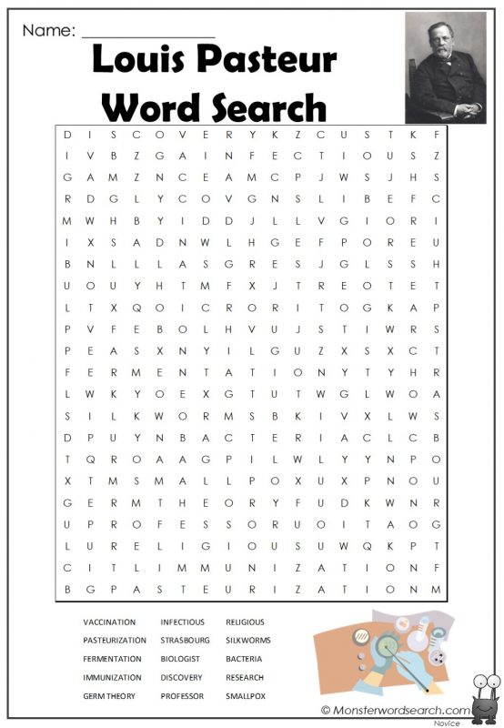 Louis Pasteur Word Search
