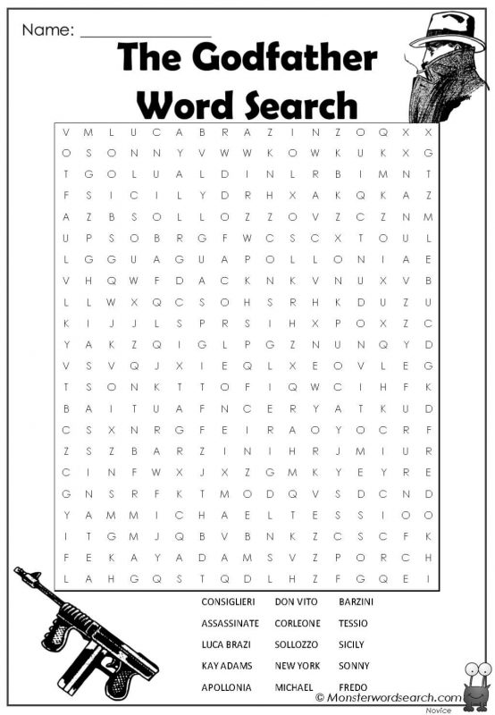 The Godfather Word Search