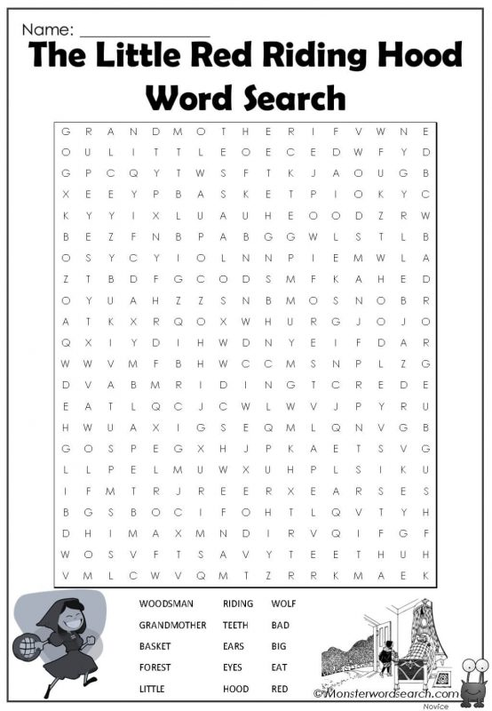 The Little Red Riding Hood Word Search