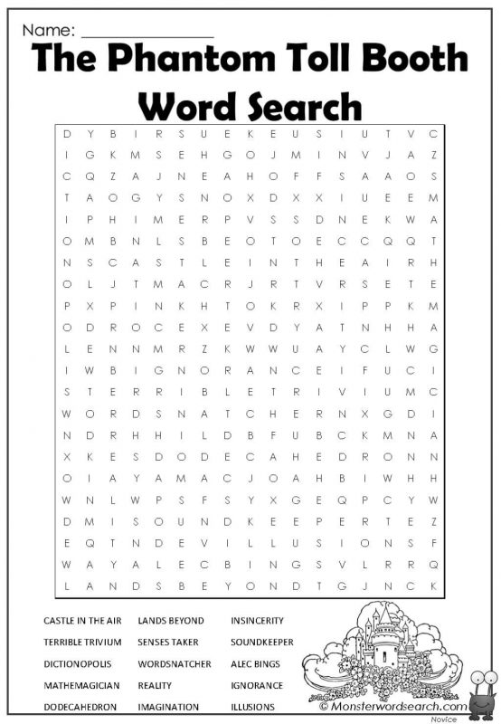 The Phantom Toll Booth Word Search