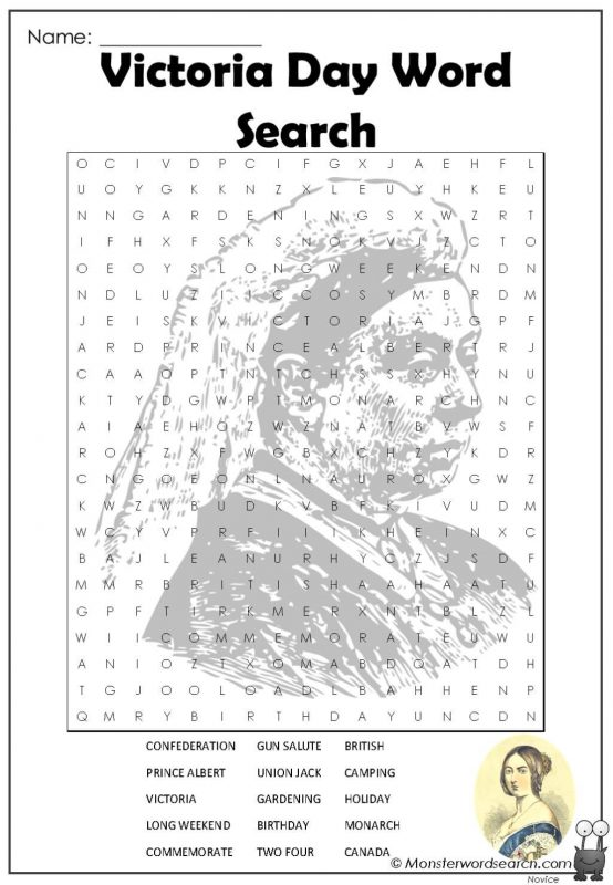 VICTORIA DAY Word Search