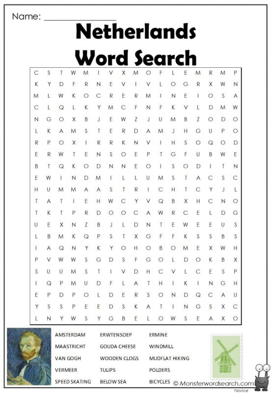 Netherlands Word Search