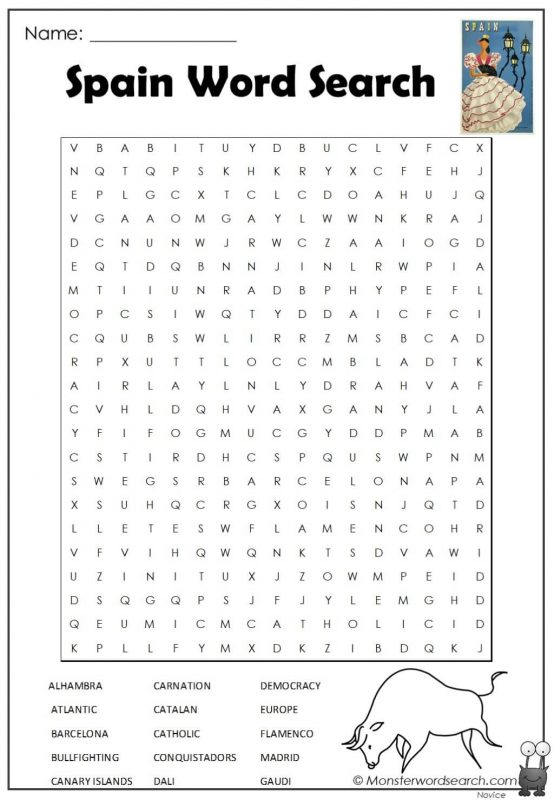 Spain Word Search