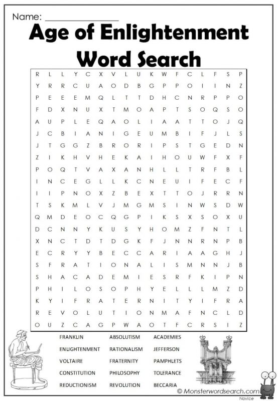 Age of Enlightenment Word Search